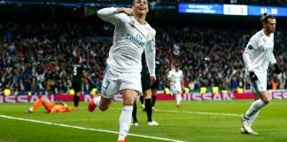 Cristiano Ronaldo usai mencetak gol ke gawang Getafe. (Foto: @Squawka)