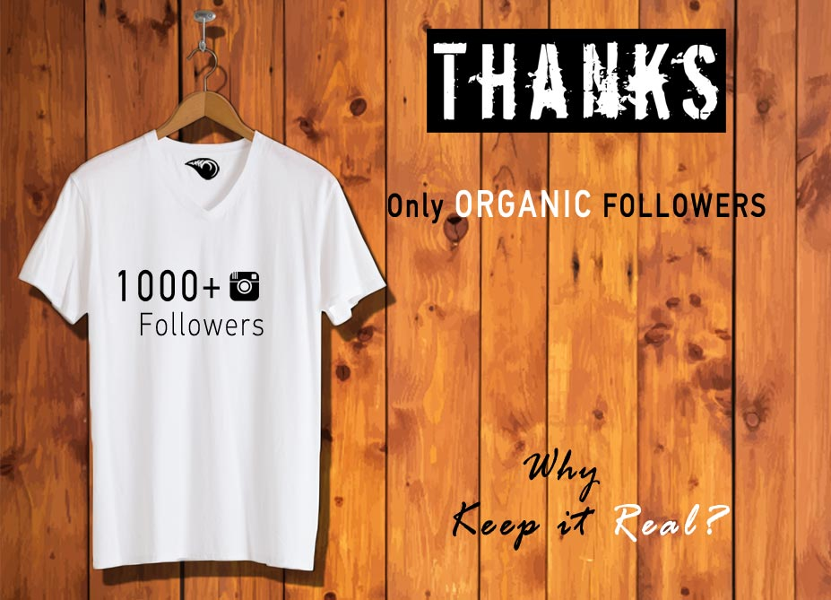 1,000+ ORGANIC REAL INSTAGRAM FOLLOWERS. Why keep it real.