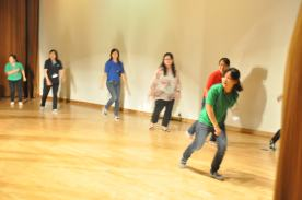 Our teachers and principal dancing mass dance!!
