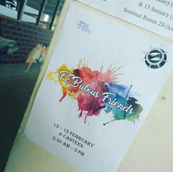 feb friends poster, hype hype!