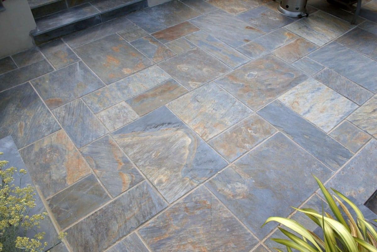 rustic copper slate paving 18m patio kit