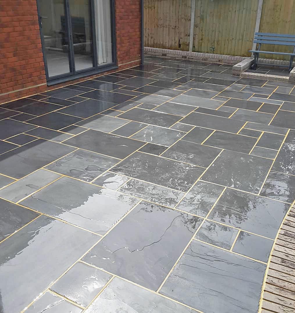 brazilian black slate paving 18m patio kit
