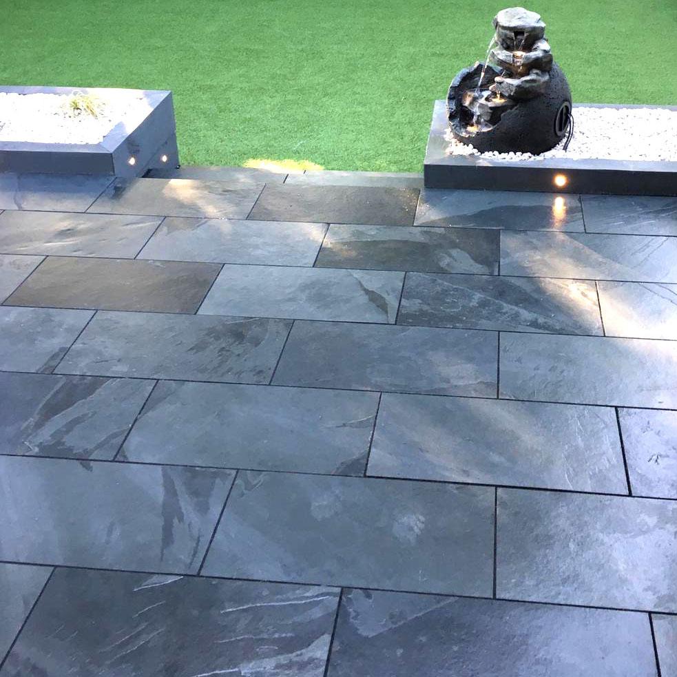 brazilian black slate paving 600x300 18m