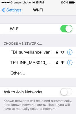 discouraging wifi name