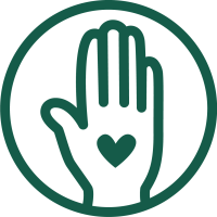 Nuthatch Naturals Hand Heart Icon