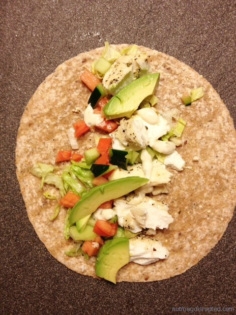 Butter Poached Halibut Tacos with Avacado and Ponzu