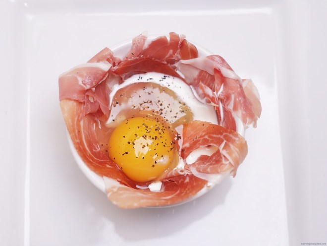 Prosciutto Baked Eggs