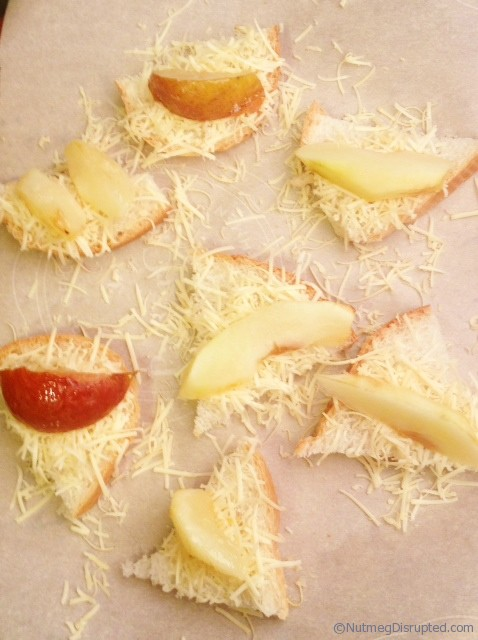 Carameilzed Pear Smoked Gouda Bites ready to bake