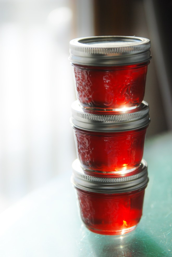 Jars of Pomegranate Pepper Jelly on Nutmeg Disrupted