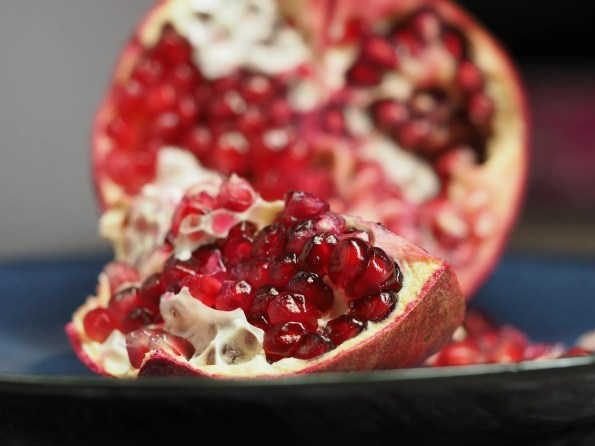 Fresh pomegranate on NUtmeg Distrupted
