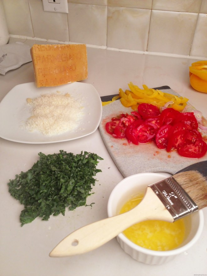 Topping for a Phyllo Kale & Shallot Pizza from Nutmeg Disrupted