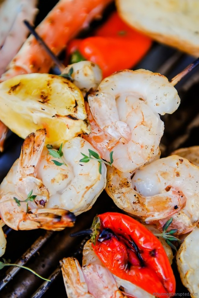 Nutmeg Disrupted grilling seafood with Chasr Broil for Mothers Day