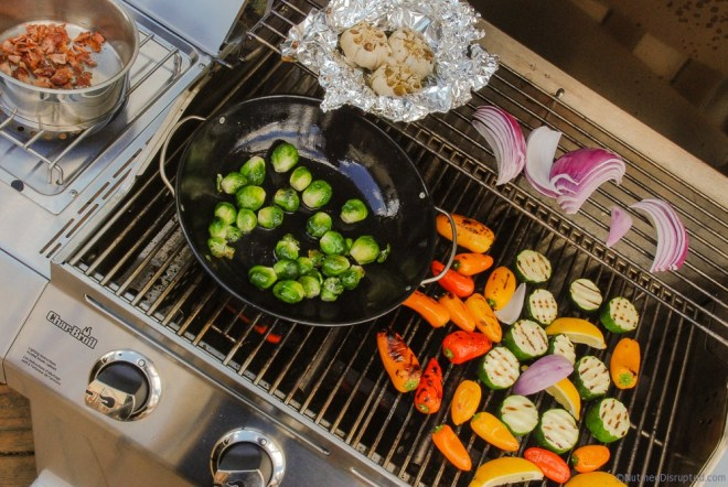 Grilling vegetables on Nutmeg Disrupted