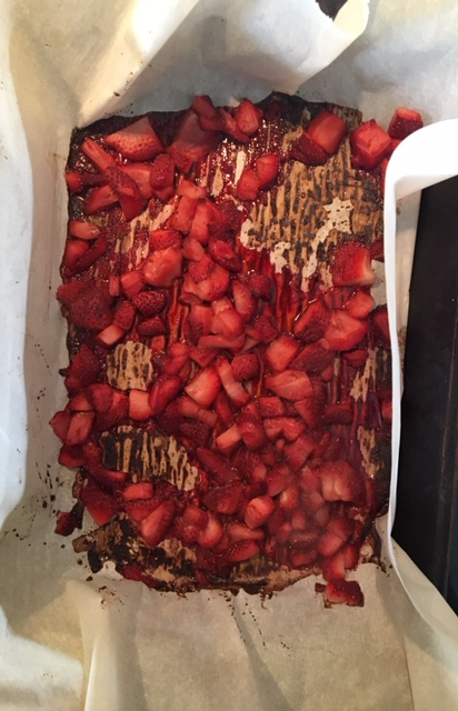 Roasted strawberries on Nutmeg Disrupted