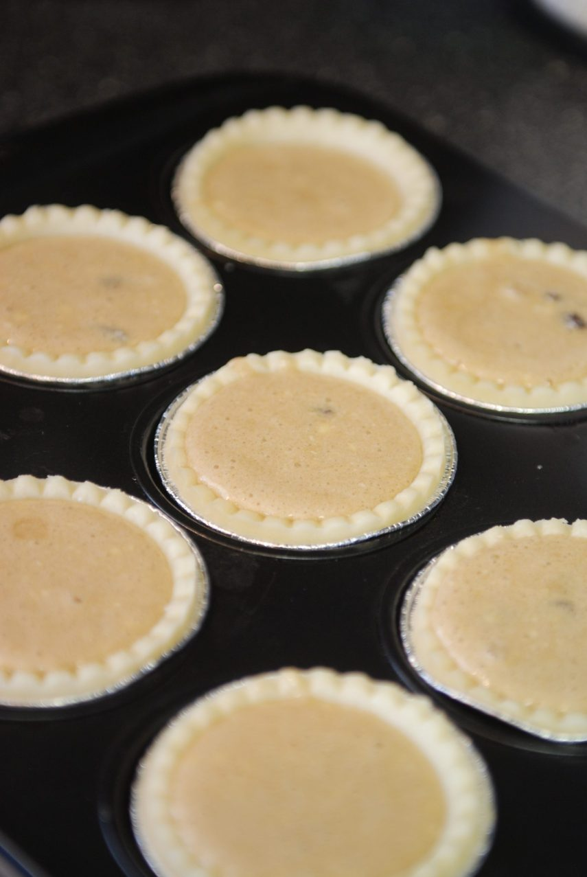 Butter tarts headed for the oven on Nutmeg Disrupted