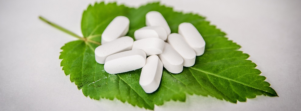 pills-on-leaf