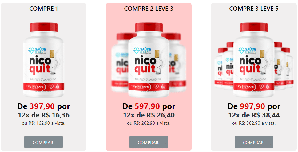Valor do NicoQuit Caps