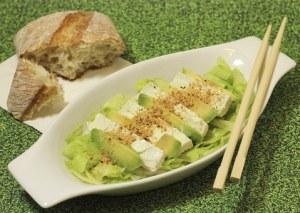 salade tofu avocat