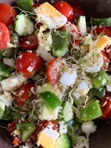 salade à midi