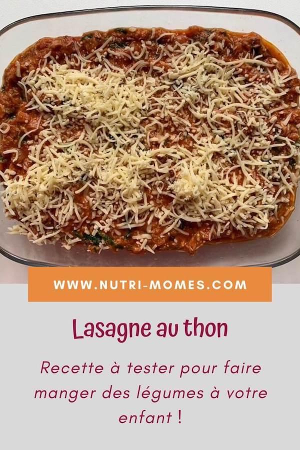 Recette de lasagne au thon et légumes cachés