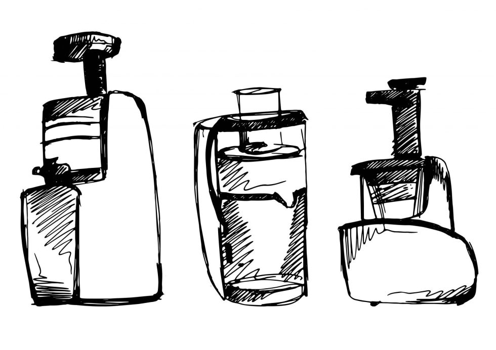 juicer vector sketch illustration
