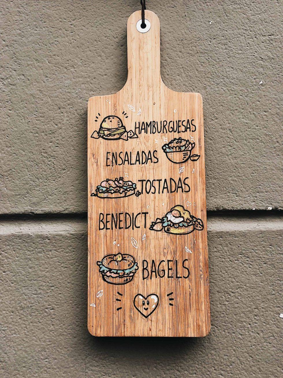 Bagel menu board