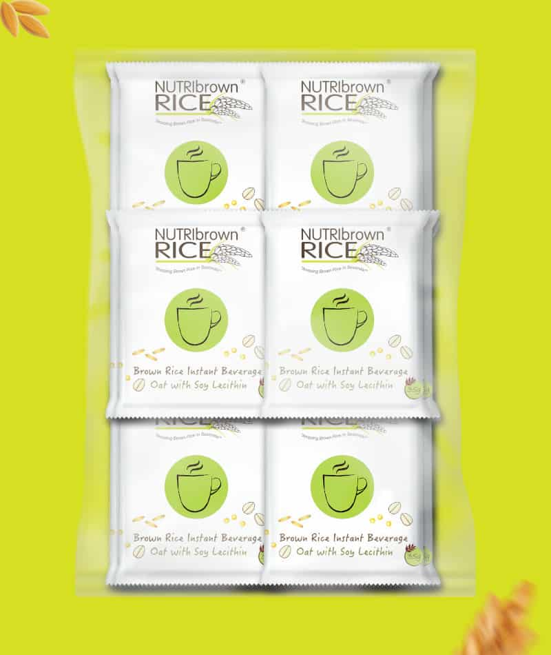 NutriBrownRice® Oats with Soy Lecithin Ecopack 30 sachets