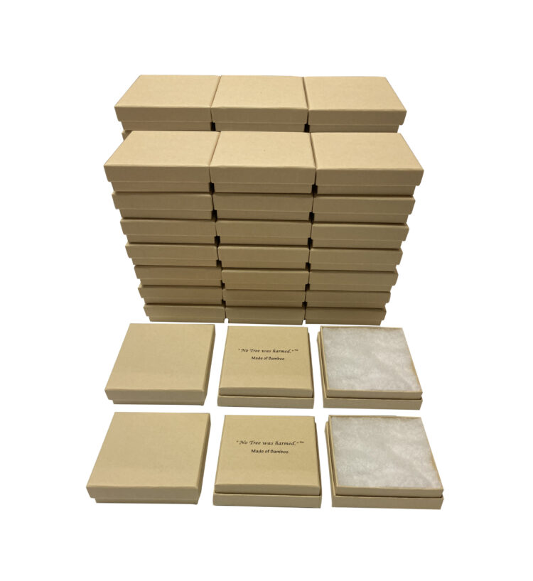 Bamboo Jewelry Boxes 40 Pack