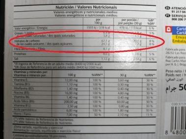 """Información Nutricional """"Vital"""""""