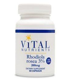 RHODIOLA ROSEA 3% 200 MG 60 VCAPS (RHO10) - NutrimentRx