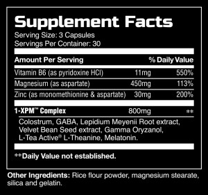 1-XPM supplement facts