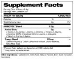 Aminovex Raspberry Lemonade Supplement facts