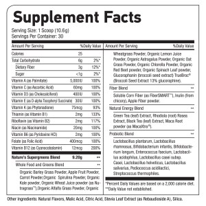 Supergreens_supplement facts