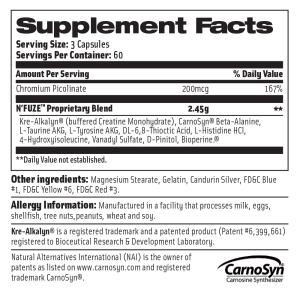 nfuze supplement facts