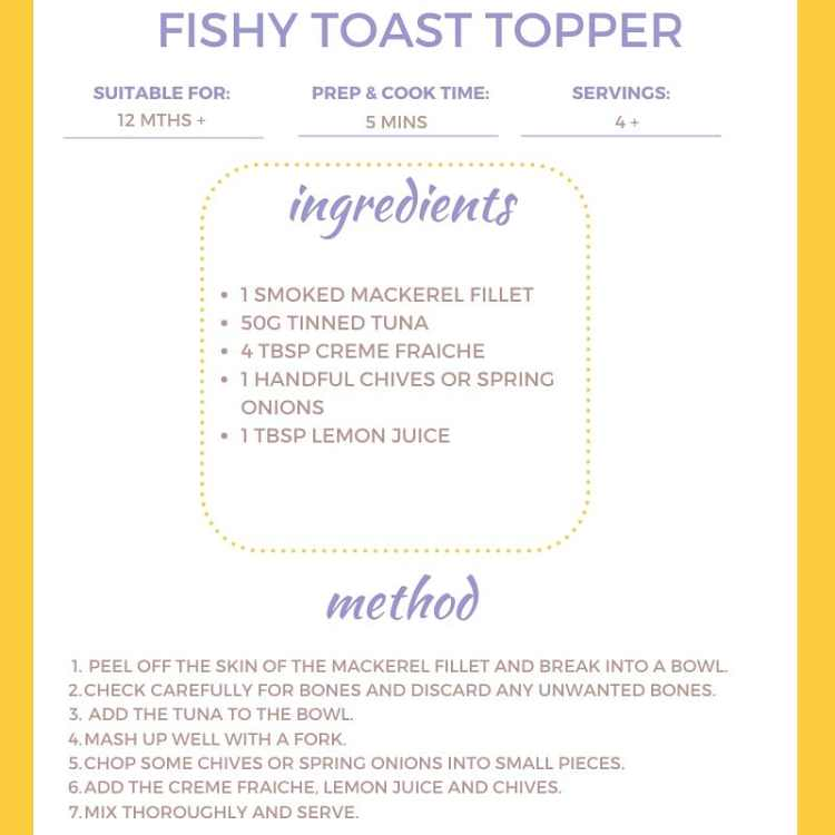 This is the recipe for fishy toast topper