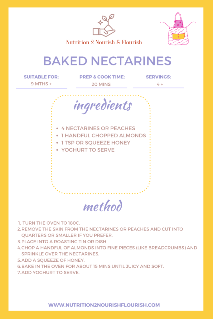 This image is of baked nectarines recipe