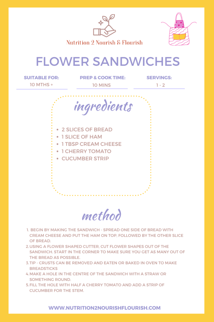 This is an image of flower sandwiches recipe
