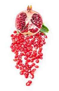 Whole Pomegranate Fruit With Red Fruit Grains (Arils)