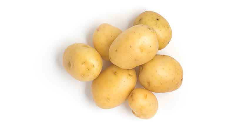 Picture of Several Small Baby Potatoes.
