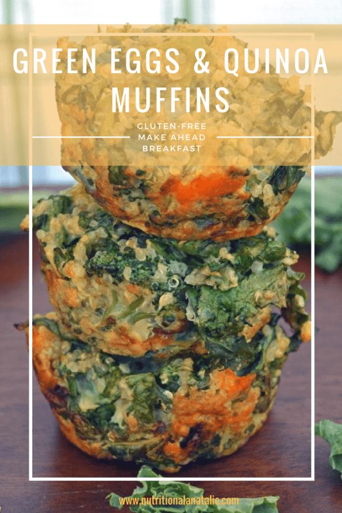 A healthy make-ahead breakfast: Green Eggs & Quinoa Muffins