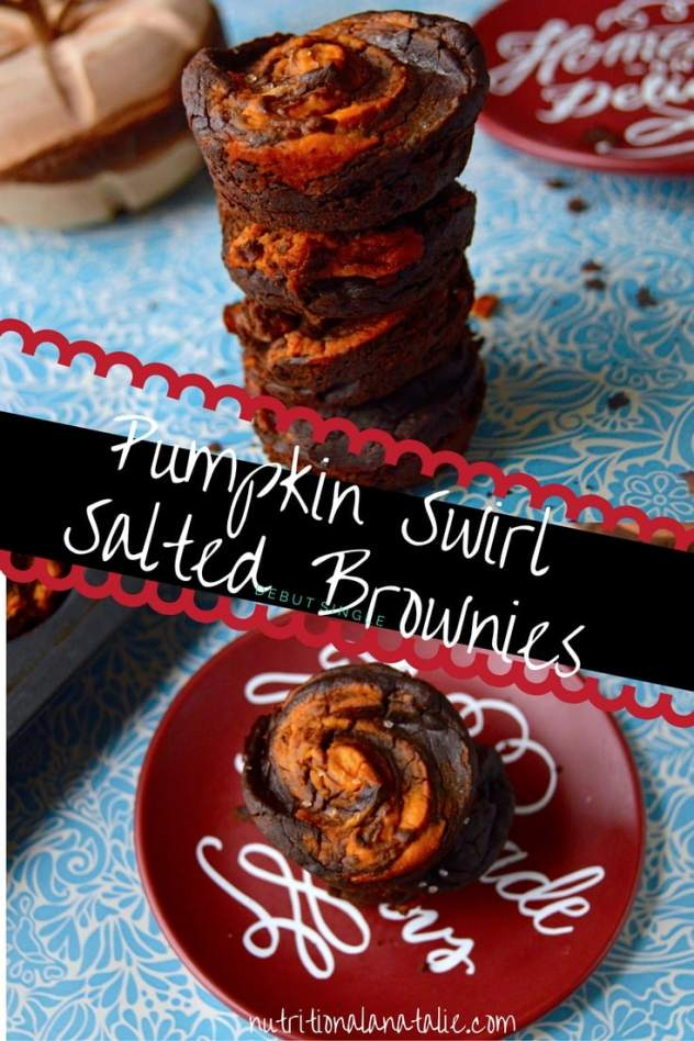 Pinterest picture of Pumpkin Brownies