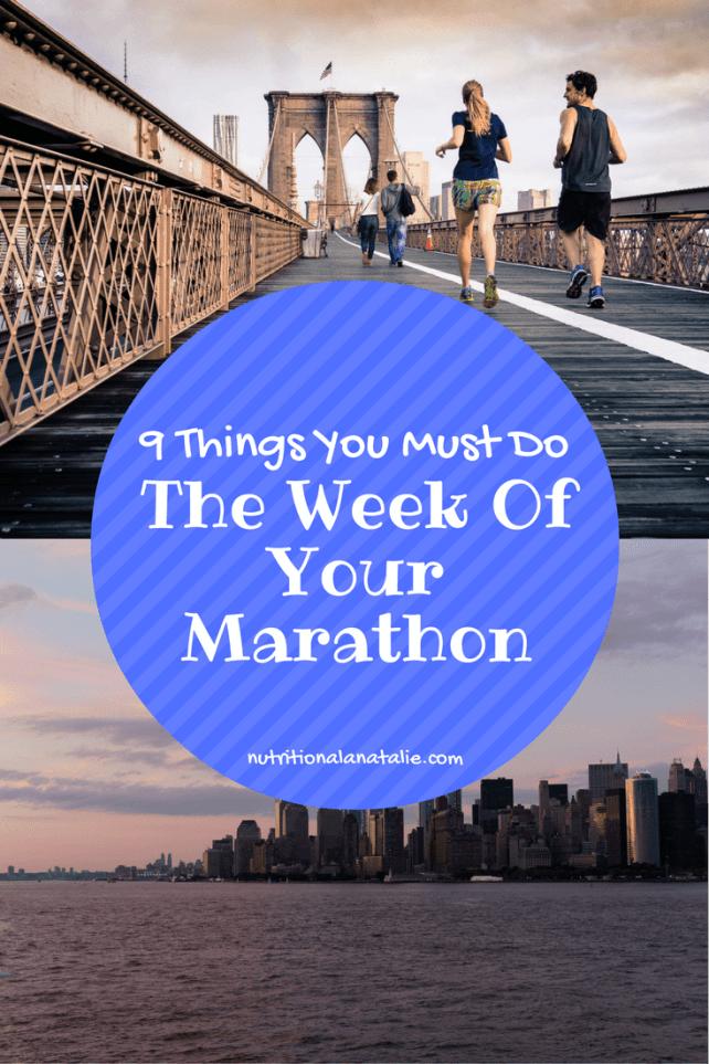 marathon prep check list
