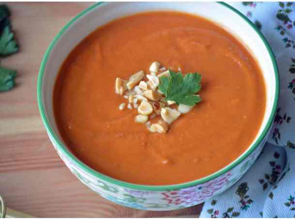 Crock-Pot Spicy Sweet Potato & Peanut Stew