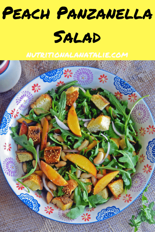 Recipe for Peach Panzanella Salad
