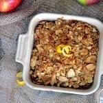 Recipe for healthier apple & pear crisp. Vegan & Gluten-free