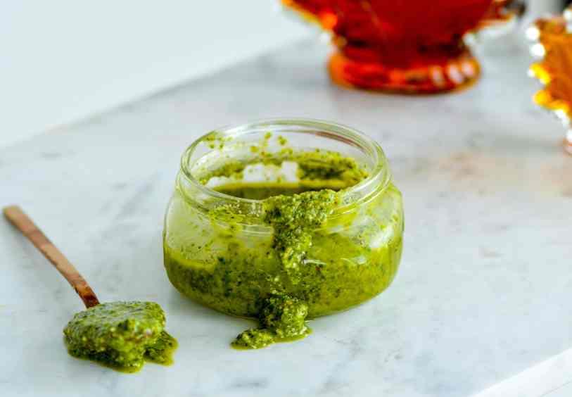 Recipe for maple pesto