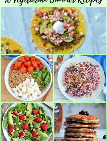 10 vegetarian summer recipes. #healthy #seasonal #summerrecipes #vegetarianrecipes #reciperoundup