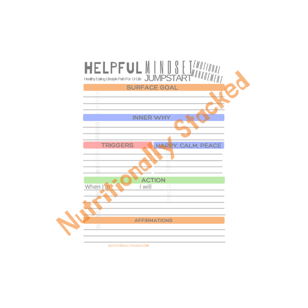 Helpful Printables Nutritionally Stacked