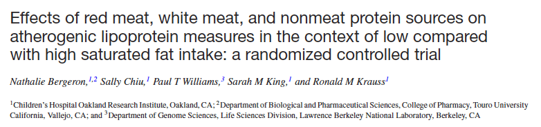 A tale of two (recent) studies: isocaloric high-meat and