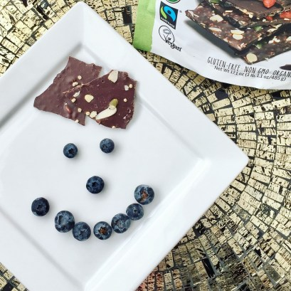 Blueberries and chocolate